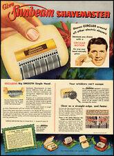 1955 vintage Christmas ad for Sunbeam Shavemaster Razor  -031812