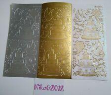 10 Peel Off Stickers Assorted Glitter /& Plain Huge Craft DeStash JOBLOT