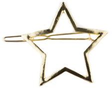 Clip per capelli Star Classico Retrò Tagliato Aperto Star Barrette Per Capelli Clip per Capelli Pin in METALLO