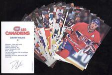 1996-97 / 1997-98 POSTCARD MONTREAL CANADIENS NHL HOCKEY POST CARD SEE LIST