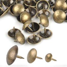 100pcs Antique Brass Round Head Upholstery Sofa Nail Decorative Tack Furniture