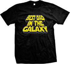 Best Dad In The Galaxy Parody Nerd Movie Geek Fathers Day Mens T-shirt