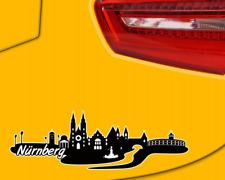 Nürnberg Skyline Aufkleber Sticker Autoaufkleber City Gedruckt