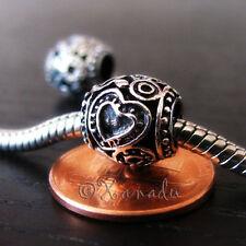 2PCs Silver Secret Garden Spacer Beads For All European Style Charm Bracelets