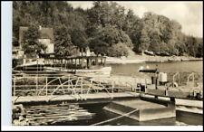 KRIEBSTEIN 1955 DDR AK Schiff Boot Lauenhain Bootssteg