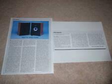 Klipsch KG 2 Speaker Review, 1984, 2 pgs, Full Test!