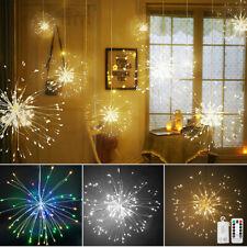100-150 LED Starburst Lights Firework Lamp Battery Powered Outdoor Hanging Decor