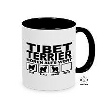 Tasse Kaffeebecher TIBET TERRIER HÖREN AUFS WORT Hund Hunde Siviwonder