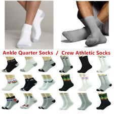 Wholesale Crew Athletic / Ankle Quarter Sport Men's Socks Cotton Size 9-11 10-13