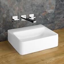 Clickbasin Countertop No Tap Hole Rectangular White Basin 400mm x 300mm ELANA
