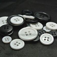 200pc 100pcs Resin sewing scrapbook shirt Buttons Diy 9-38mm white black 4-holes