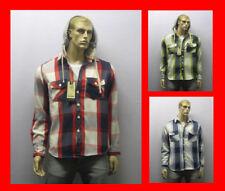 Ajustado Brave Soul Camisa De Leñador extraíble sudadera cuadros Cálido franela