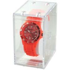Uhrenbox Geschenkbox Schachtel Uhrenverpackung Etui transparent klar Kunststoff