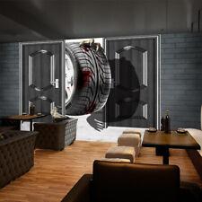 3D Grands Pneus 432 Photo Papier Peint en Autocollant Murale Plafond Chambre Art