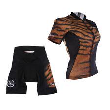 Women Bike Riding Short Sleeve Outfits Cycling Jersey Shorts Kits Sportswear