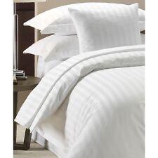 100% cotone di qualità Hotel Di Lusso Raso Copripiumino a righe bianco 300 TC