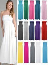 Ladies Sheering Maxi Dress Boobtube Strapless Bandeau Long Top Summer SALE!!!!