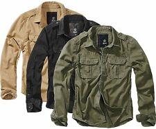 Brandit Herren Hemd Vintage Shirt longsleeve Baumwolle Langarmhemd VINTAGE 9373