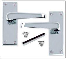 Straight Chrome Door Handle Pack Internal Latch door handles Sold as Pairs