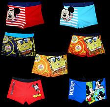 Badehose Boxer Disney Mickey Micky Maus Spongebob 98 104 110 116 122 128 134 140