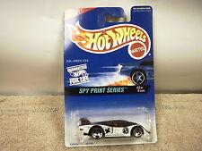 L37 MATTEL HOT WHEELS 16928 SOL-AIRE CX4 SPY PRINT SERIES #3/4 CARS NEW ON CARD