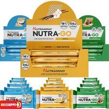 nutramino nutra-go rico en proteínas BAJO EN azúcares Oblea 12x39g barras Crispy