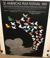 EDUARDO RAMIREZ AMERICAS FILM FESTIVAL 1991 LARGE POSTER
