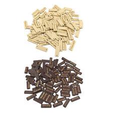 100x Rectangle Wood Buttons Handmade Scrapbooking Craft Label Tag DIY Decor Tool