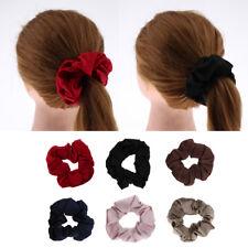 100% Mulberry Silk Hair Scrunchies Elastic Hair Band Ponytail Holder