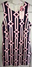 JULIE BROWN Geometric Print Dress NAVY PINK WHITE size 4 NWT