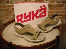 Ryka Banyon Tan T-Strap Sporty Backstrap Sandal NEW