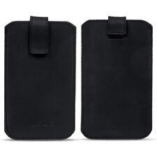 Universal Handy Leder Hülle 4.0 - 6.4 Zoll Schutz Smartphone Tasche Case Schwarz