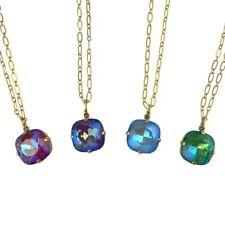 La Vie Parisienne Gold Crystal Necklace Mermaid Purple Blue Ruby1472G Popesco
