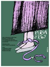 Reina y Rey, Queen & King Decoration Poster.Graphic Art Interior design.3615