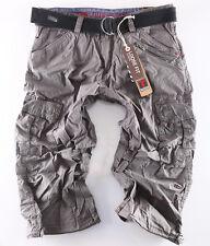 Timezone Herren Bermuda Shorts 3/4 Miles plus Gürtel 9101 grey anthra  Neuware