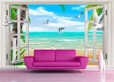 Unique Tuneful Beach 3D Full Wall Mural Photo Wallpaper Printing Home Kids Decor