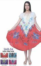 Womens Ladies NEW Summer 100% Rayon Celebrity Swing Dress Tunic Kaftan Free Size