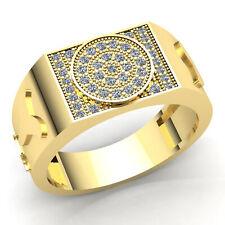 1carat Genuine Round Cut Diamond Mens Modern Hip Hop Engagement Ring 10K Gold