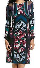 Muse Black Floral Stretch Chiffon Sheath Dress - MSRP $148 - GORGEOUS!!