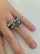 A48 CINGHIALE's Head Peltro Inglese, anello donna regolabile handmade in Sheffield