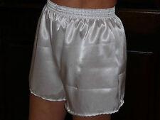 weiß Poly Satin Boxer Shorts x / groß