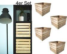 4er Set Einlage für IKEA KALLAX EXPEDIT Regal Aufbewahrungsbox Holz 33x38x33cm