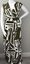 Quum Shop Modern Geometric Crossover Stretch Maxi Dress Plus 1XL 2XL 3XL - New!
