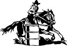 Barrel Racing Cowgirl Girl Rodeo Horse Car Truck Window Wall Vinyl Decal Sticker