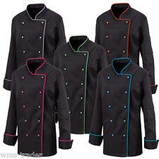 Women's Chef's Jacket Chef Clothing kochbedarf gastrobedarf Piping NEW