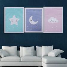 Moon Star Nursery Quote Canvas Nordic Poster Cartoon Art Prints Baby Room Decor
