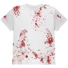Hallowen Blood Splatter Zombie All Over Youth T Shirt