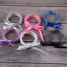 Silicone Ladies Bow Bracelet Set Christmas Multi-layer Powder Gift Jewelry N7