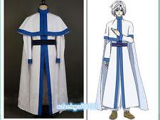 Akatsuki no Yona COSplay Costume White Snake/Dragon Warrior Kija Cape Cloak Robe