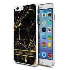 personnalisé marbre étui de téléphone pour apple Samsung Initiale Texte Nom - 42